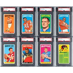 1965 Topps Football Near Set (174/176) with (19) PSA Graded