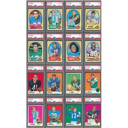 1969 and 1970 Topps Football Complete Sets with (16) PSA Graded