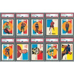 1960 Topps Hockey HIGH GRADE Complete Set with (63 of 66 Cards) PSA Graded