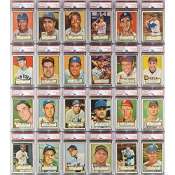 1952 Topps Autographed Partial Set of (308) Cards with (22) High Numbers