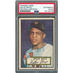 1952 Topps #261 Willie Mays Signed Card - PSA/DNA