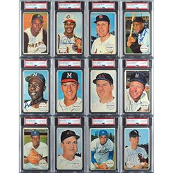1964 Topps Giants Completely PSA/DNA Autographed PSA Set (60) with Roberto Clemente Graded MINT 9!