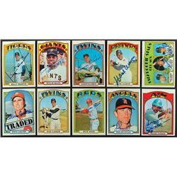 1972 Topps Autographed Partial Set (725/787) with Approximately (825) Signatures