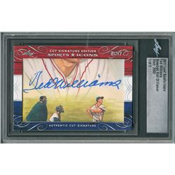 2017 Leaf Ted Williams Sports Icons Cut Signature Card - 1 of 2