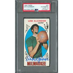 1969 and 1970 Topps Lew Alcindor Signed Basketball Cards - both PSA/DNA GEM MINT 10