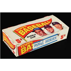 1965 Topps Baseball HIGH NUMBER Series Display Box with Mantle and Koufax