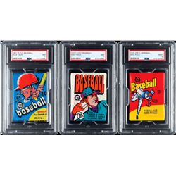 1971-1980 OPC Baseball PSA Graded Wax Pack Collection (7)