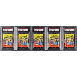 1980-81 Topps Basketball Wax Packs (5) - all PSA NM-MT 8