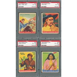 1933 Goudey Indian Gum Complete Set of 216 Cards with FIVE PSA Graded