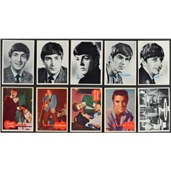 1956-1966 Non Sports HIGH GRADE Complete Sets (6) with 1956 Elvis Presley and 1964 Beatles