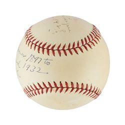Spectacular  Dual Autographed Baseball - Ty Cobb and Honus Wagner