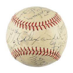 1939 Hall of Fame Complete Inaugural Induction Ceremonies Autographed Baseball (with Enhancements)