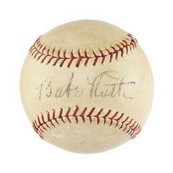 Babe Ruth Single Signed Baseball