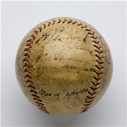 1930 New York Yankees Signed Baseball with 21 Signatures including Ruth and Gehrig
