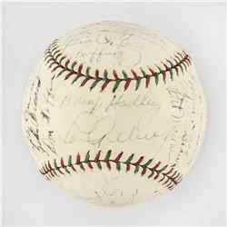 1936 New York Yankees World Series Champions Team Signed Baseball with Gehrig and DiMaggio