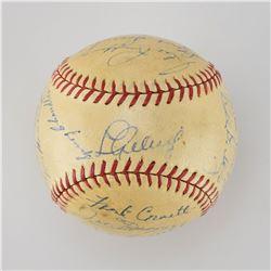 1938 New York Yankees World Series Champions Team Signed Baseball with Gehrig and DiMaggio