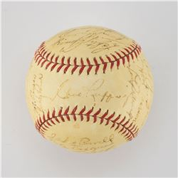 1939 New York Yankees World Series Champions Team Signed Baseball with Gehrig and DiMaggio
