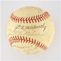 1945 New York Yankees Team Signed Baseball with 28 Signatures including McCarthy