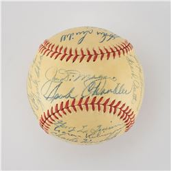1947 New York Yankees World Series Champions Team Signed Baseball with DiMaggio