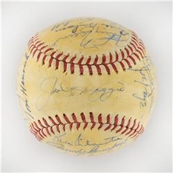 1946 New York Yankees Team Signed Baseball with 27 Signatures including DiMaggio and Dickey