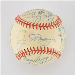 1948 New York Yankees Team Signed Baseball with DiMaggio