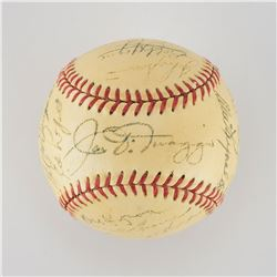 1951 New York Yankees World Series Champions Team Signed Baseball with Mantle Rookie Signature