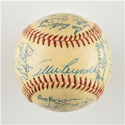 1953 New York Yankees Team-Signed Baseball with 30 Signatures including 7 Hall of Famers!