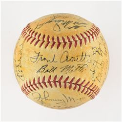 1953 New York Yankees World Series Champions Team Signed Baseball with Mantle