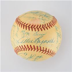 1954 New York Yankees Team Signed Baseball with Mantle