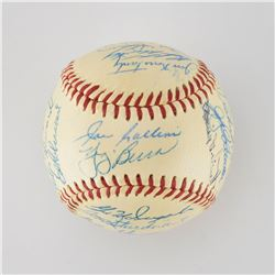1956 New York Yankees World Series Champions Team Signed Baseball with 30 Signatures including Mantl