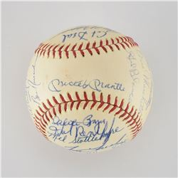 1965 New York Yankees Team Signed Baseball with Mantle and Maris