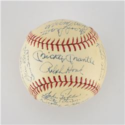 1967 New York Yankees Team Signed Baseball with Mantle