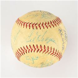 1969 New York Mets World Series Champions Team Signed Baseball with 25 Signatures including Hodges,