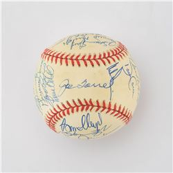 1998 New York Yankees World Champions Team Signed Baseball with Jeter and Torre