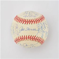 1999 New York Yankees World Champions Team Signed Baseball with Jeter