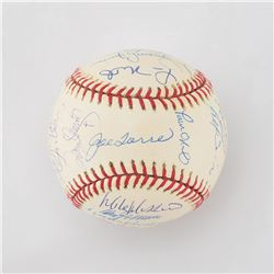 2001 New York Yankees American League Champions HIGH GRADE Team Signed Baseball with 28 Signatures i
