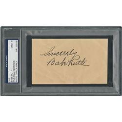 Babe Ruth Signature - PSA/DNA MINT 9