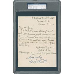 Babe Ruth Signature - PSA/DNA NM-MT 8