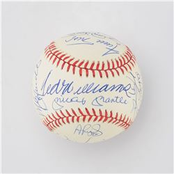 500 Home Run Club Multi-Signed Ball with 21 Signatures including Mantle and Williams - PSA/DNA