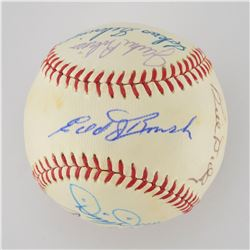 Hall of Famer Multi-Signed Baseball with Jackie Robinson and Dizzy Dean