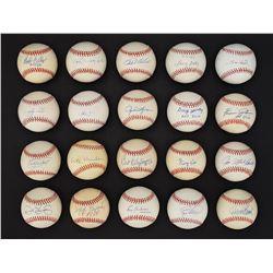 Baseball Hall of Famer Single Signed Ball Collection (83)