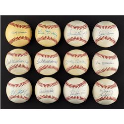 Large Single Signed Baseball Collection (60) including TWO Ted Williams and Mantle