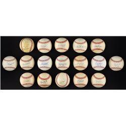 "Major League ""3,000 Hit Club"" Single Signed Baseball Collection (17)"