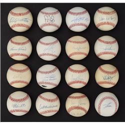 """Major League """"500 Home Run Club"""" Single Signed Baseball Collection (14) with Ted Williams"""