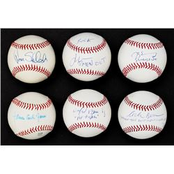 Movie Actor Single Signed Baseball Collection (6)