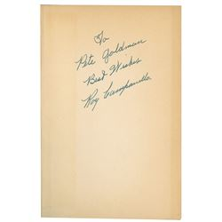 """Roy Campanella Signed 1952 Hardcover Edition of """"Most Valuable Player Series"""""""