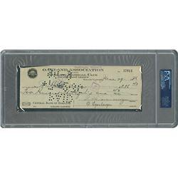 1936 Willard Hershberger Signed Oakland Baseball Club Pacific Coast League Payroll Check
