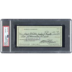 Roberto Clemente 1970 Signed Personal Check - PSA/DNA GEM MINT 10