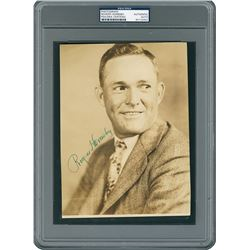 Rogers Hornsby 1929 Signed Photograph - PSA/DNA