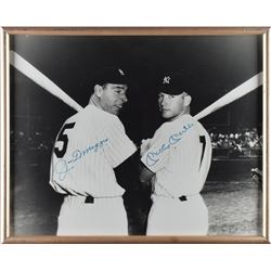 Mickey Mantle and Joe DiMaggio Oversized Signed Photograph